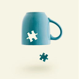 freetoedit simple puzzle cup mug