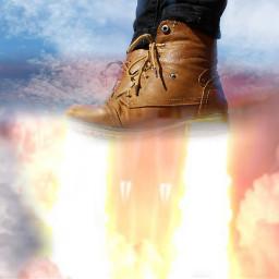 freetoedit boots rocketboots sky rocket