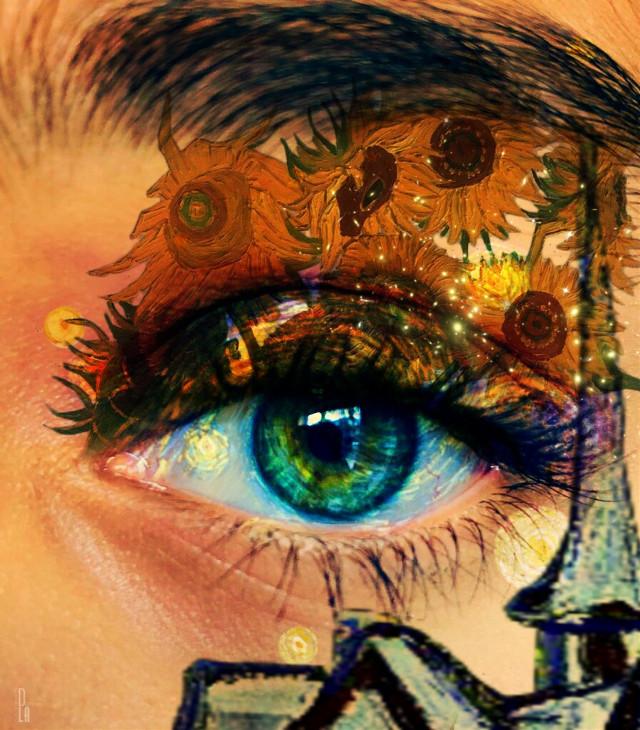 Van Gough eyes.... #nochallenge #freetoedit  #fineartfriday #eyeart