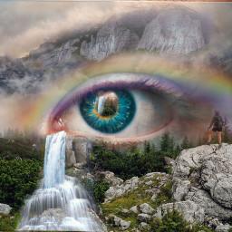 freetoedit freetoeditnot notfreetoedit mountain waterfall ircelectriceye