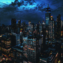 freetoedit picsart city modern lights