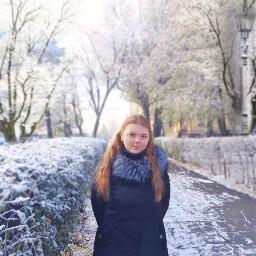 freetoedit winter snow girl