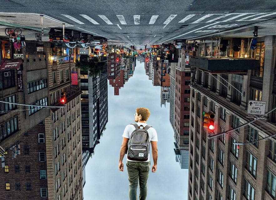 Upside Down world #UpsideDown #upsidedowncity #myedit  #freetoedit