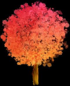 ftestickers watercolor tree poparteffect gradientcolors freetoedit