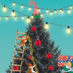 freetoedit christmas challenge decorating christmasinprogress ircchristmastree