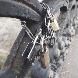 locks chain metallic bridge freetoedit