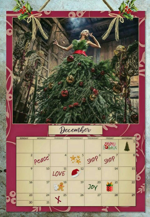 #freetoedit #calendar #december2018  #christmastime