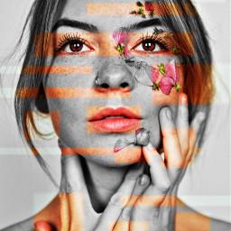 freetoedit remix beautiful woman charismatic