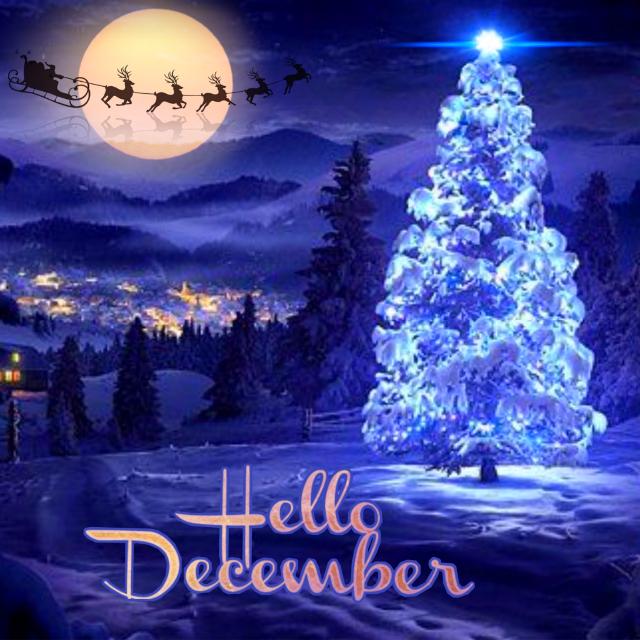 #freetoedit #christmas #christmastree #santaclaus #nightsky #december2018 #hellodecember #myedit #madewithpicsart