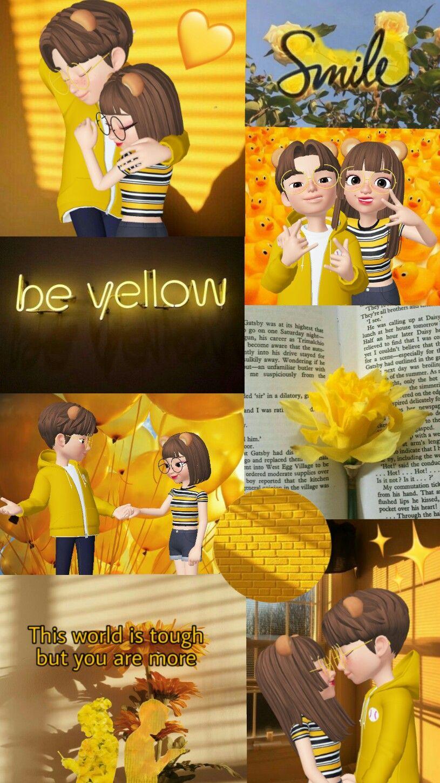 Zepeto Couple Yellow Wallpaper Aesthetic