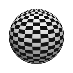 sphere ornament black pattern spherical