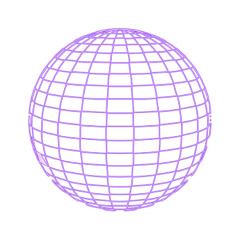 sphere ornament neon pattern spherical