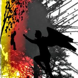 silhouettestickers splashmagic splash_oftheworld freetoedit artisticportrait