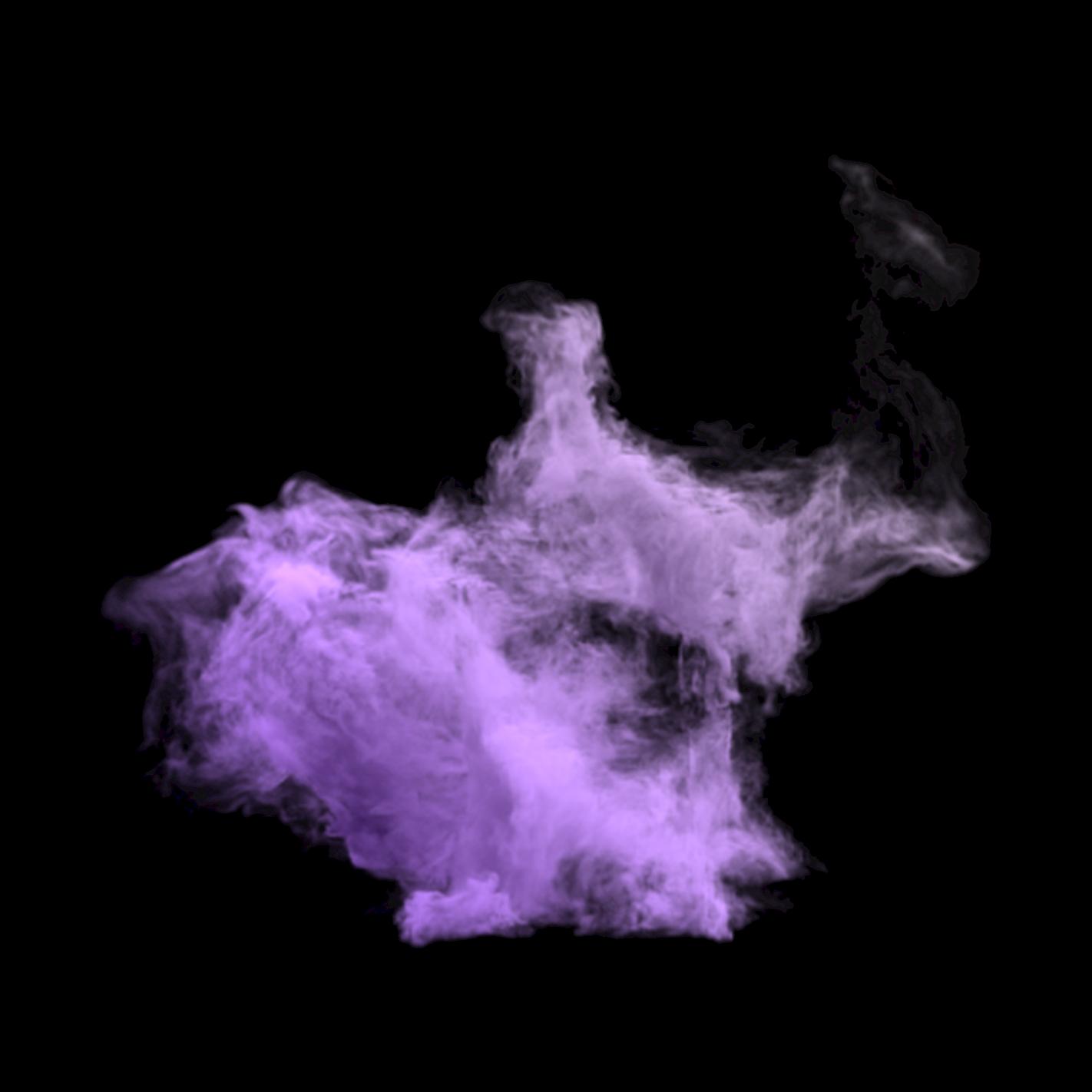 ftestickers smoke mist overlay purple...