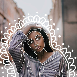 freetoedit drawing whiteline white girl