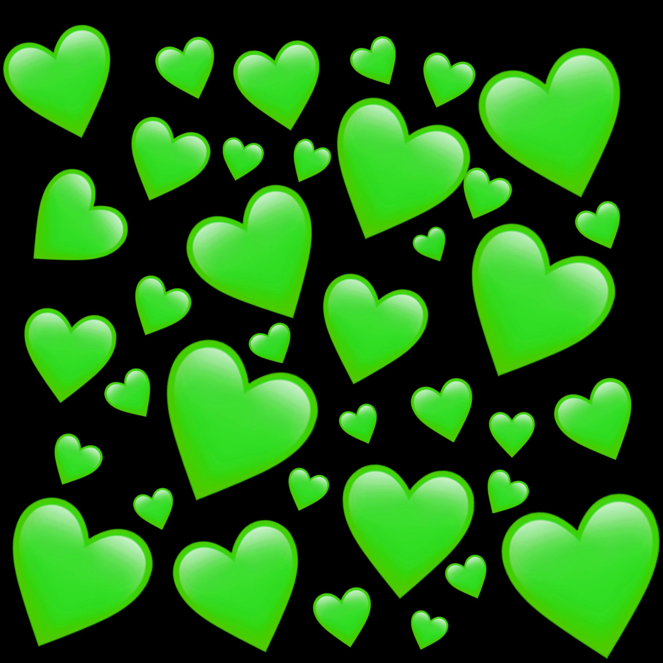 части, картинки сердечки зеленые еще