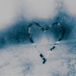 freetoedit winter heartshape