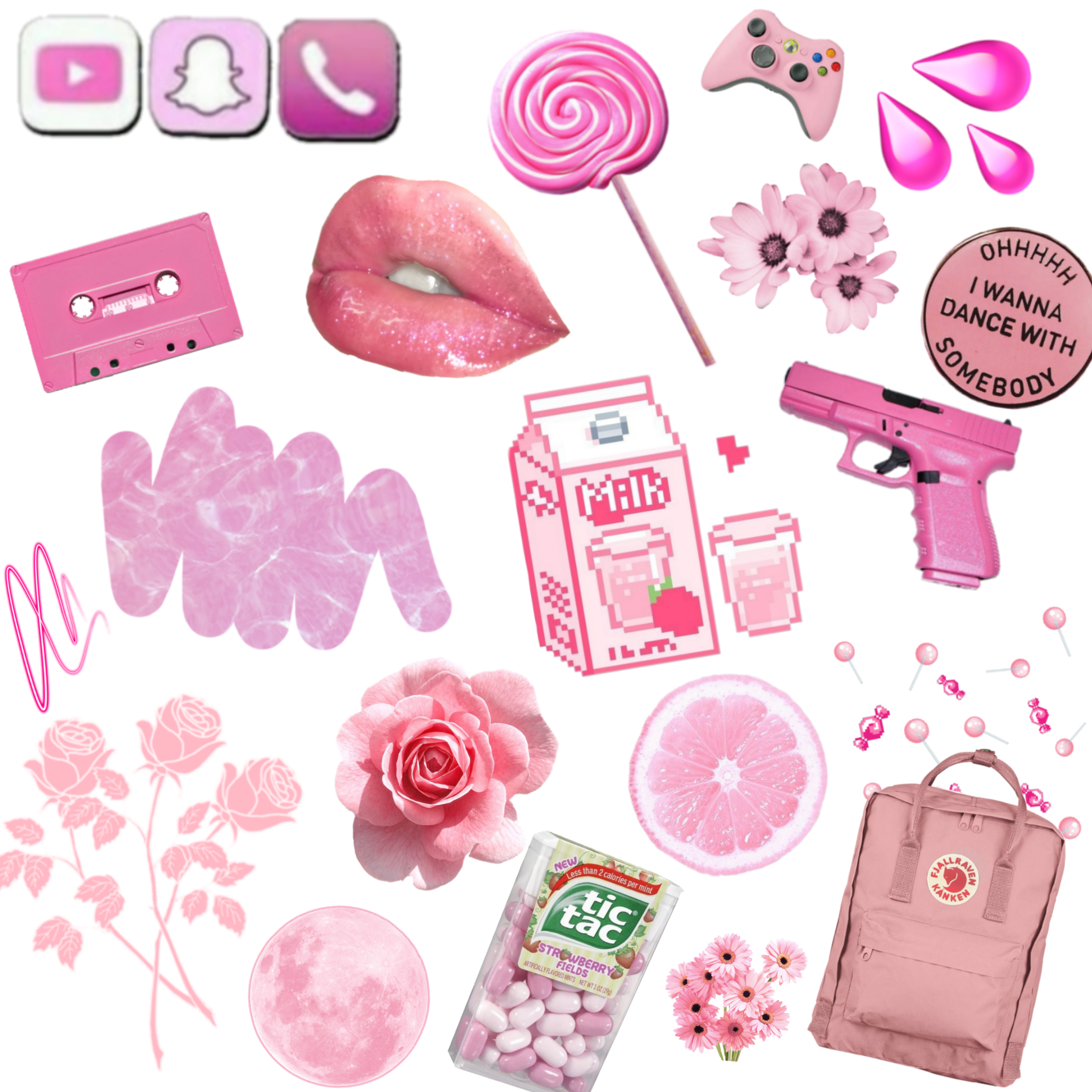 pink pinky girl girly aesthetic fun chill love heart...