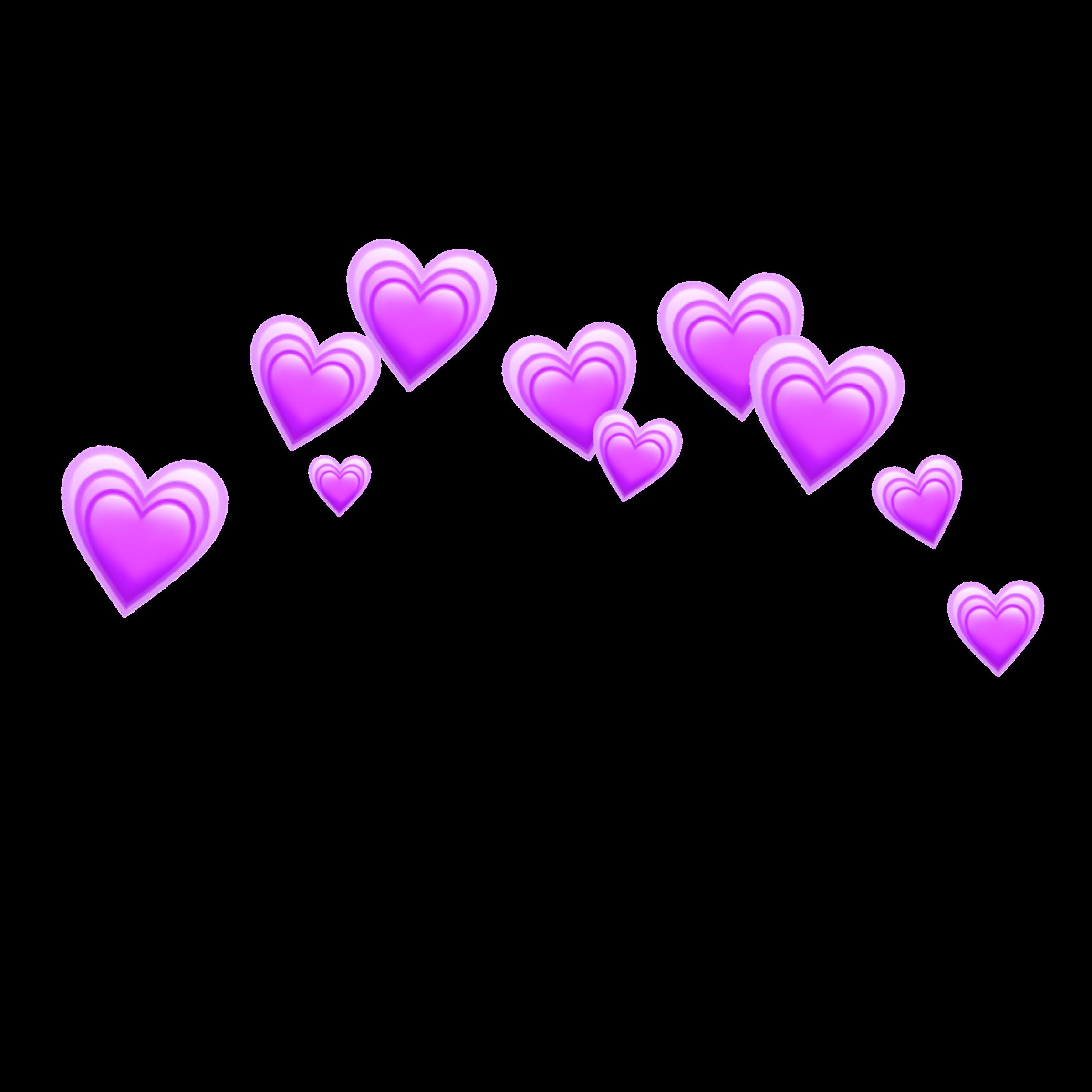 Fondo De Pantalla Tumblr Purple Heart Emoji Background