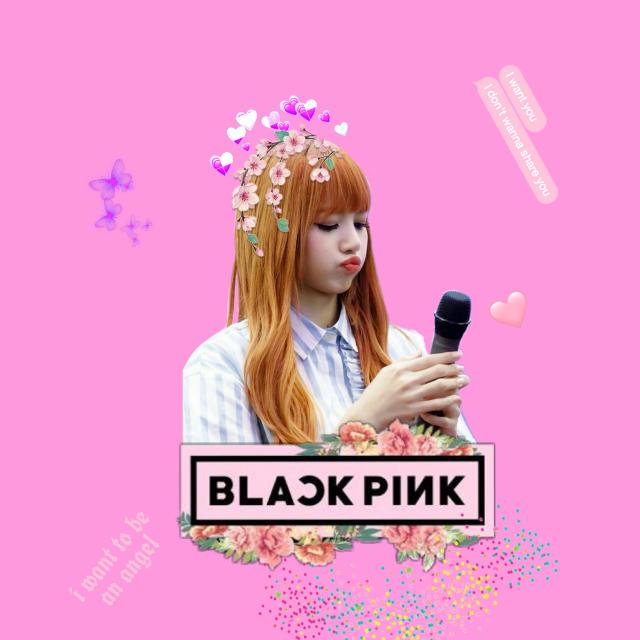 #freetoedit #lisa #blackpink #blink #cute #kpop #koreangirl #korean #girl #pinkbackground #flowers #flower #tumblr #tumblrgirl #cool #like #remixit #lalisamanoban