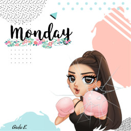freetoedit arimoji cartoon monday stickeremix