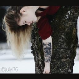 firsttattoo wolftattoo love wolf inked