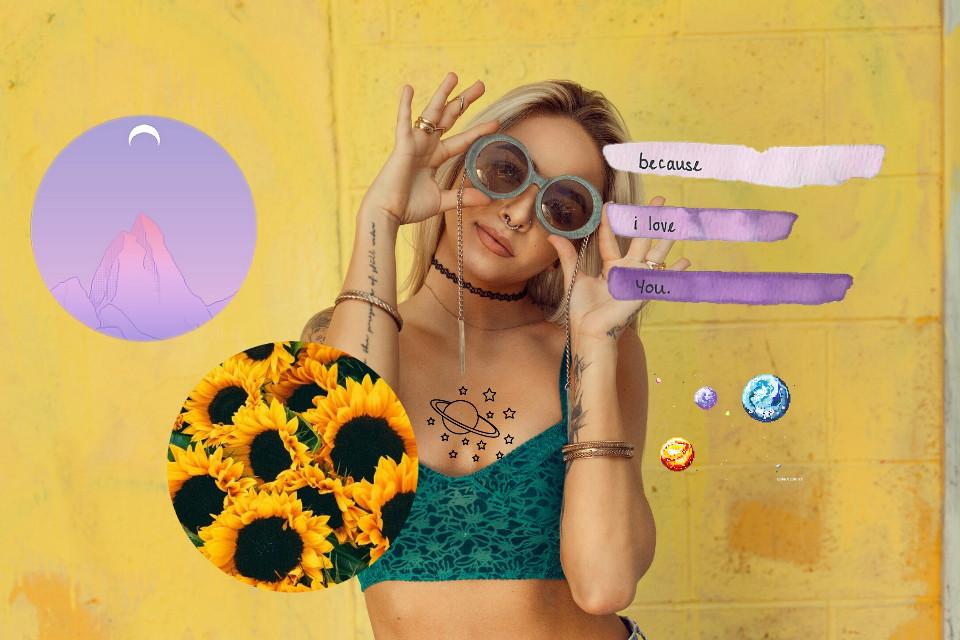 #freetoedit #editedbyme #collage #realpeople #sunflower #lilacpurple