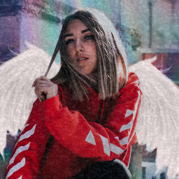 freetoedit angle wings girl holo