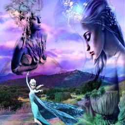 freetoedit princess fairy magicalgirl hillside