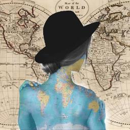 freetoedit map people woman picsart