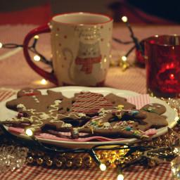 freetoedit christmas gingercookie christmaslights christmastime