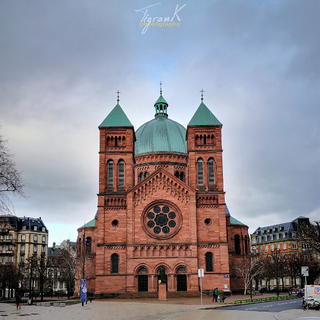 There are some less photographed #cathedrals in #Strasbourg.  The #catholic #church of the young St. Peter in Strasbourg is one one of them, I think. #alsace #france #labellefrance #beautifulfrance #architecture