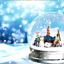 snow christmas freetoedit snowglobe