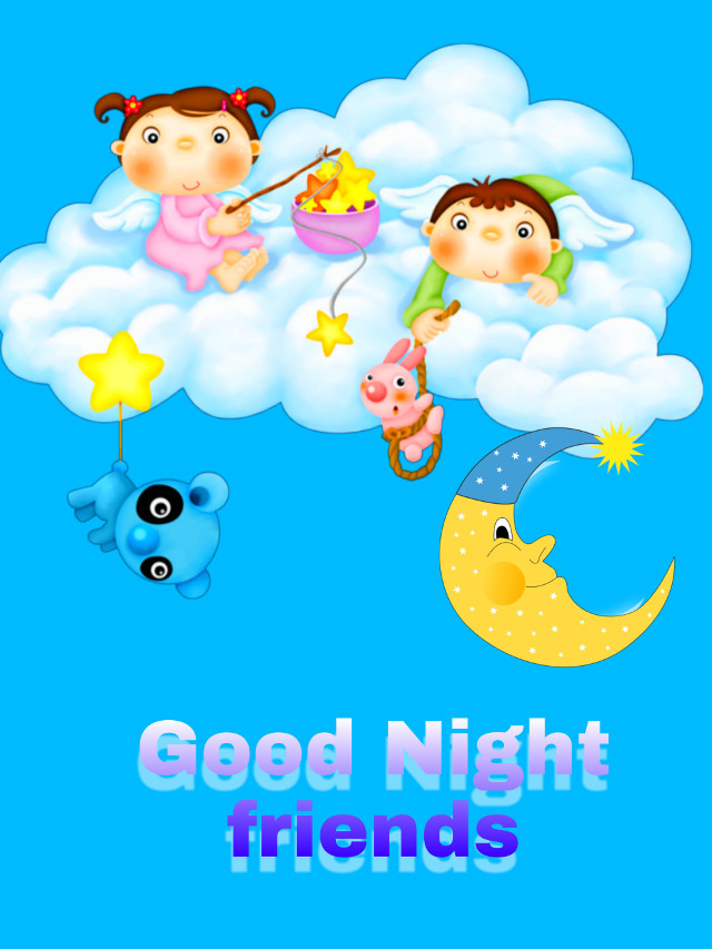 #freetoedit #wallpaper #background #goodnight #cute  Good night Picsart friends ❤