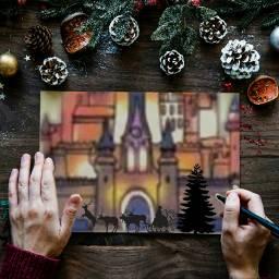 christmas christmas_time christmas_tree tree santaclaus freetoedit ircchristmascard