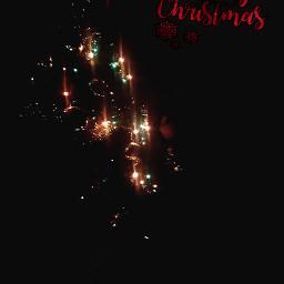 freetoedit christmastree newyear garland lights srcmerrychristmas