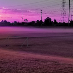 freetoedit sunrise pink fog soccerfield