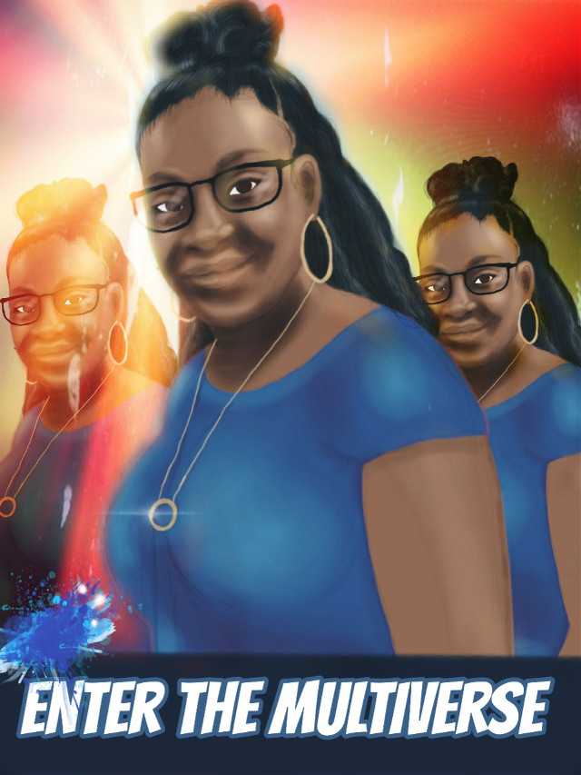 Sometimes, three realities are better than one. #drawing #portrait #people #beautiful  #girl #cute #multiverse #colourful