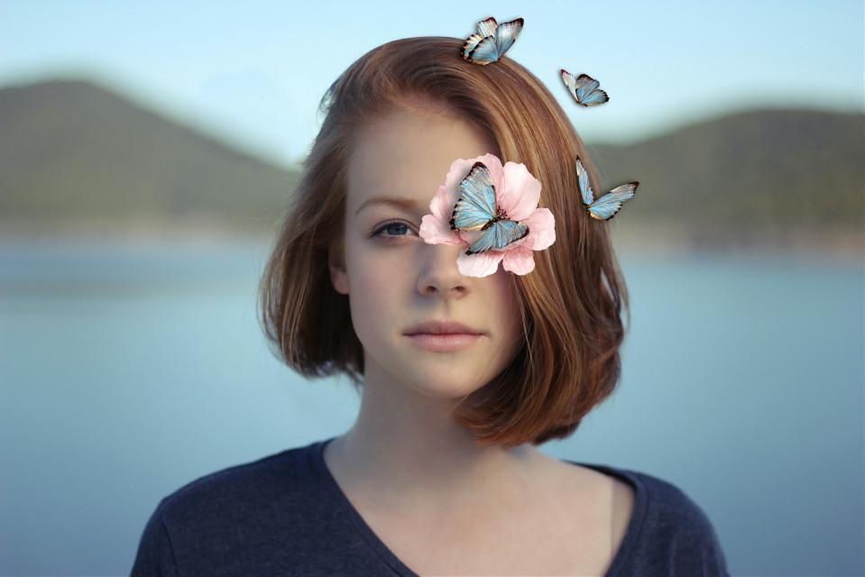 Hope you like my edit 🌸 #myedit #flower #flowerpower #girl #butterfly #butterflies #blue #pretty #nature #natureedit   @freetoedit @picsart