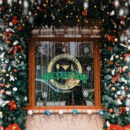 picsart happynewyear christmas window building