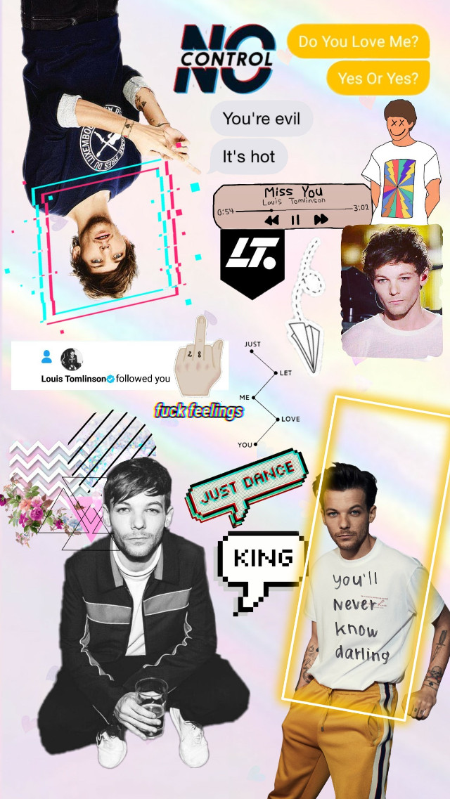 #freetoedit #louistomlinson #onedirection I love Louis, my KING ♡