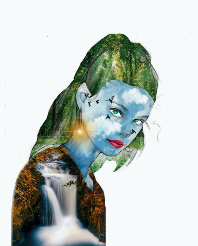 #freetoedit #edit #woman #model #beautiful #nature #water #sky #face #sun #birds #power #drawing #colors  #ircallaboutexpression #fantasy #focus #doodle