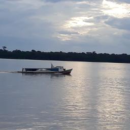 sunset river ship freetoedit pcship