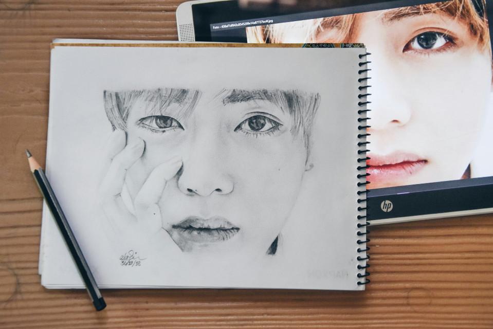 A sketch for Tae ♡ #happyvday #taetae #kimtaehyung