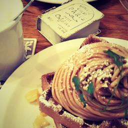 cafe waffle yummy