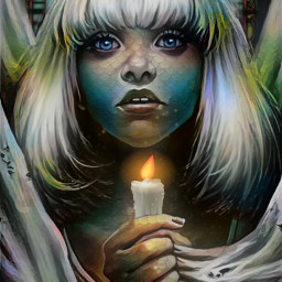freetoedit girl scales stainedglass magicfx