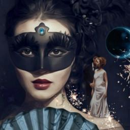 freetoedit masquerade handfan sparklers couple ircsparkler