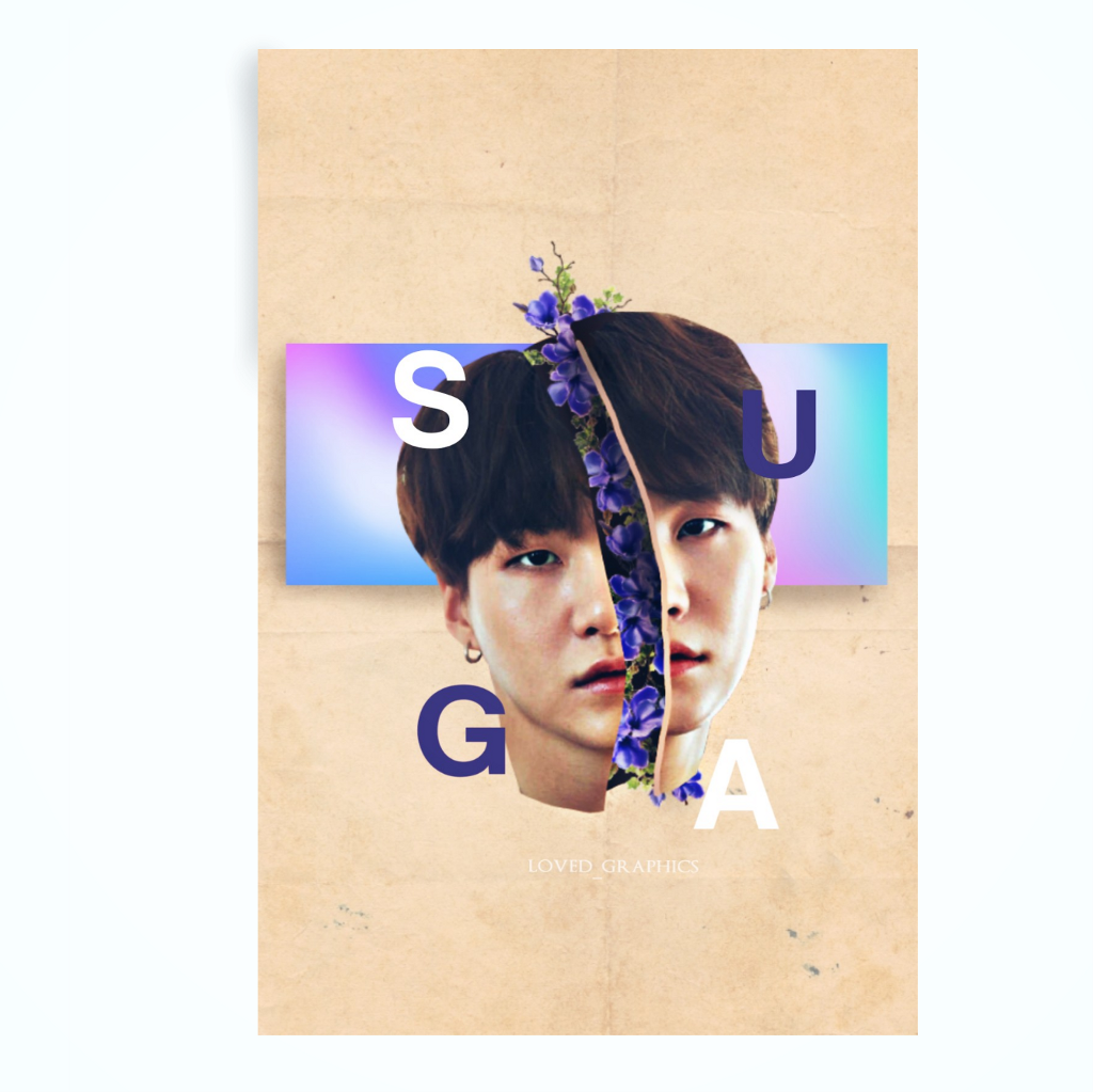 """Happy new year 🎆🎇✨ #poster #10 Idol #minyoongi    Follow our YouTube channel """"loved_yasaengbts"""" for tutorials ✔ ( a combined channel with @yasaengbts ) . . . #kpopedit #yoongi #suga #btsedit"""