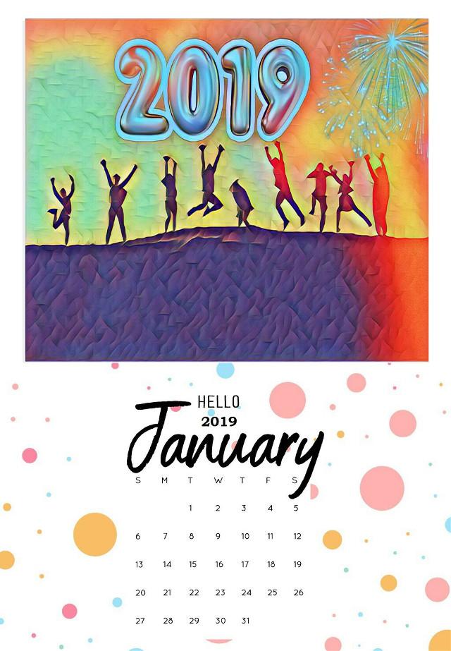 #freetoedit #2019 #january #calendar