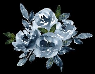 freetoedit ftestickers watercolor flowers cluster